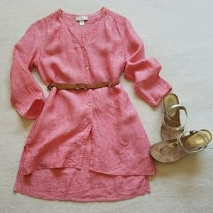 Linen Tunic, coral